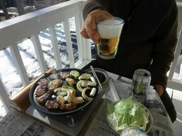昼から焼き肉パーティー